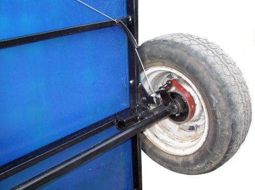Как сделать тормоза на прицепе к мотоблоку